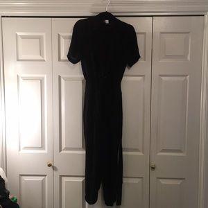 Black divided jumpsuit